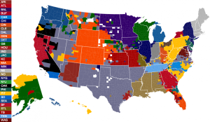 favorite nfl teams by county