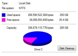nearly full disk